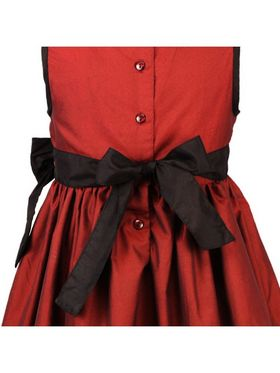 ShopperTree 100% POLYESTER Plain Girls Frock - Maroon Above 4 Year