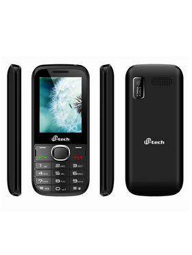 Mtech V4 16GB With Preloaded Whatsapp Mobile Phone - Black