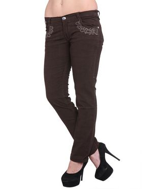 Lavennder Denim Solid Jeans - Brown_2008