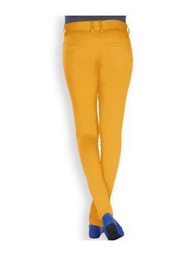 Uber Urban Cotton Lycra Solid Pant - Mustard_AURA-CP-MUST