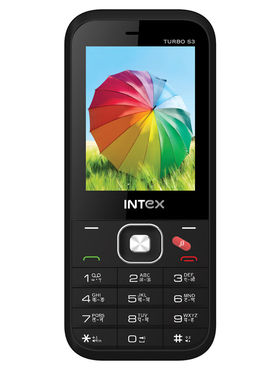 Intex Turbo S3 2.4 Inch Dual Sim - Grey & Black