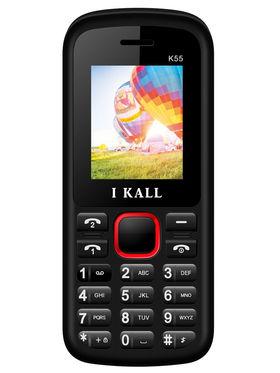I Kall K55 1.8 inch Dual Sim Mobile - Black & Red