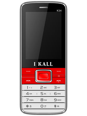 I Kall K34 Dual SIM Mobile Phone - Red
