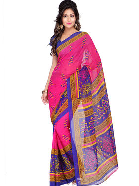 Combo of 7 Adah Fashions Georgette Printed Saree -ad10