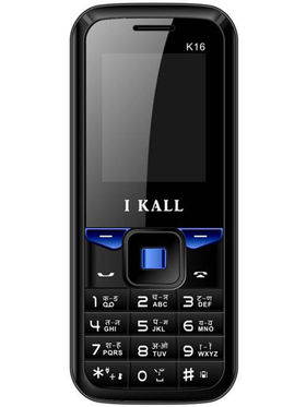 I Kall K16 Dual Sim Mobile Phone - Black & Blue