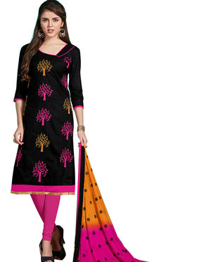 Viva N Diva Emroidered Unstiched Cotton Dress Material_11128-Elifa