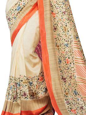 Viva N Diva Printed Bhagalpuri Silk Saree -11092-Banarasiya-06