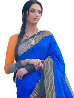 Viva N Diva Printed Bhagalpuri Silk Saree -11097-Banarasiya-06