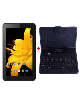 Combo of I Kall IK1 3G Calling Tablet (RAM : 1GB ROM : 4GB) With Keyboard