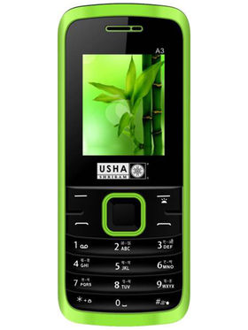 Usha Shriram A3 Feature Phone (Dual Sim,Black & Green)