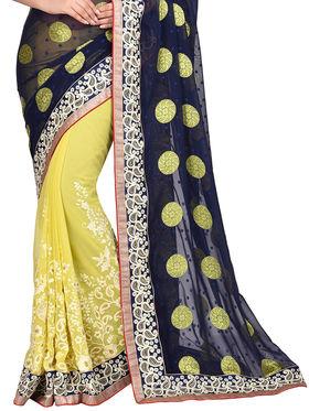 Shonaya Desginer Embroidered Georgette Saree - SGGRA-7451