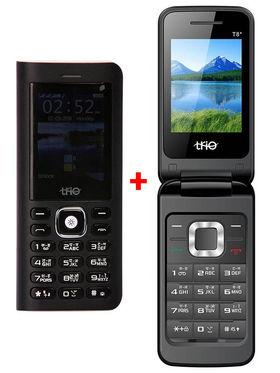 Combo of Trio Superphone cum Powerbank( Black) + Trio Flip Phone (Black)