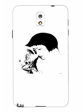 Snooky Designer Print Hard Back Case Cover For Samsung Galaxy Note 3 - White