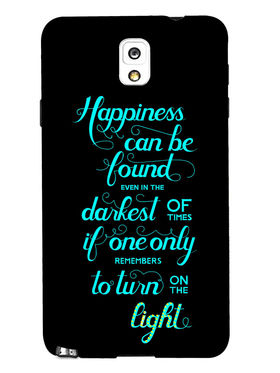 Snooky Designer Print Hard Back Case Cover For Samsung Galaxy Note 3 - Black
