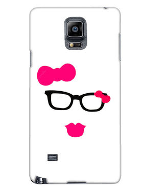 Snooky Designer Print Hard Back Case Cover For Samsung Galaxy Note 4 - Pink