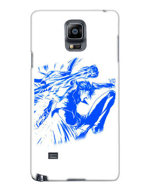 Snooky Designer Print Hard Back Case Cover For Samsung Galaxy Note 4 - Blue