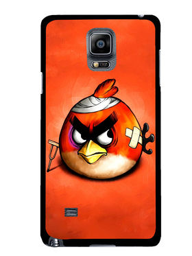 Snooky Designer Print Hard Back Case Cover For Samsung Galaxy Note 4 - Orange