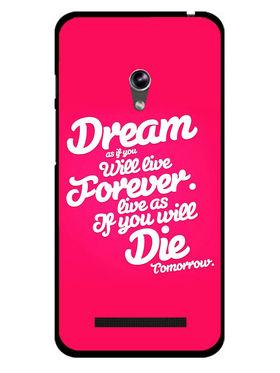 Snooky Designer Print Hard Back Case Cover For Asus Zenfone 4.5 - Rose Pink