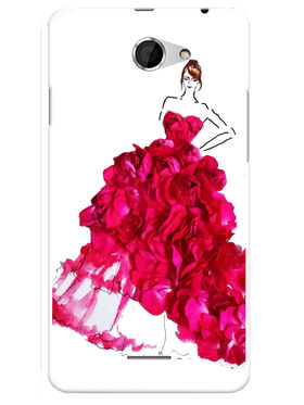Snooky Designer Print Hard Back Case Cover For HTC Desire 516 - Pink