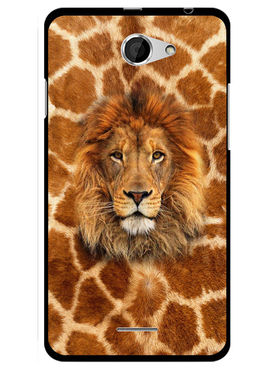 Snooky Designer Print Hard Back Case Cover For HTC Desire 516 - Brown