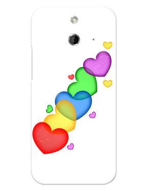 Snooky Designer Print Hard Back Case Cover For HTC One E8 - Multicolour
