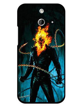 Snooky Designer Print Hard Back Case Cover For HTC One E8 - Black