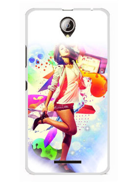 Snooky Designer Print Hard Back Case Cover For Lenovo A5000 - Multicolour