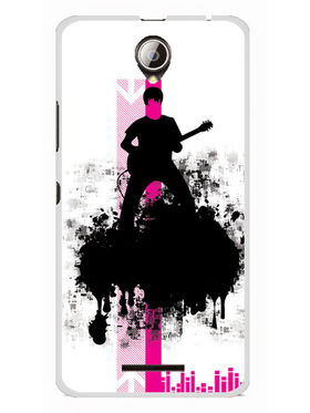 Snooky Designer Print Hard Back Case Cover For Lenovo A5000 - Black