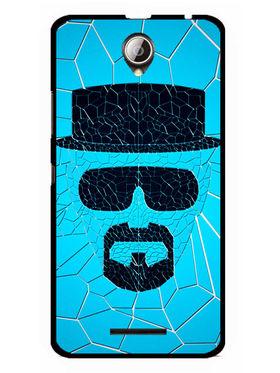 Snooky Designer Print Hard Back Case Cover For Lenovo A5000 - Blue