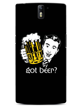 Snooky Designer Print Hard Back Case Cover For OnePlus One - Black