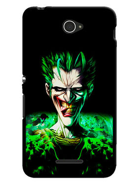 Snooky Designer Print Hard Back Case Cover For Sony Xperia E4 - Black