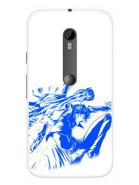Snooky Designer Print Hard Back Case Cover For Motorola Moto G (Gen 3) - Blue