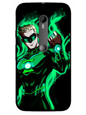 Snooky Designer Print Hard Back Case Cover For Motorola Moto G (Gen 3) - Green