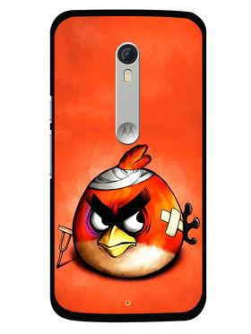 Snooky Designer Print Hard Back Case Cover For Motorola Moto X Play - Orange