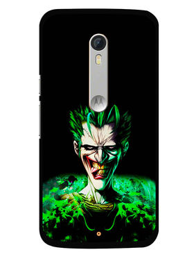 Snooky Designer Print Hard Back Case Cover For Motorola Moto X Play - Black