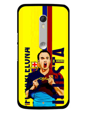 Snooky Designer Print Hard Back Case Cover For Motorola Moto X Play - Yellow