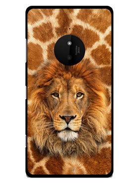 Snooky Designer Print Hard Back Case Cover For Nokia Lumia 830 - Brown