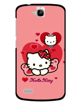 Snooky Designer Print Hard Back Case Cover For Huawei Honor Holly - Pink