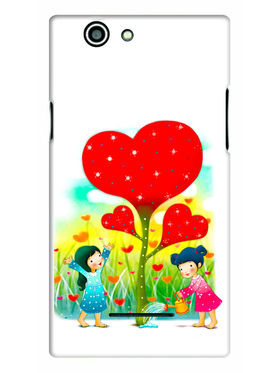 Snooky Designer Print Hard Back Case Cover For Xolo A500s - Multicolour