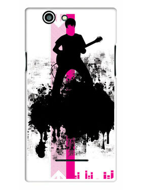 Snooky Designer Print Hard Back Case Cover For Xolo A500s - Black