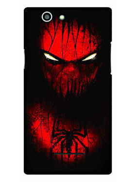 Snooky Designer Print Hard Back Case Cover For Xolo A500s - Red