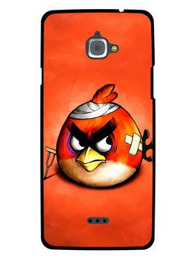 Snooky Designer Print Hard Back Case Cover For InFocus M530 - Orange