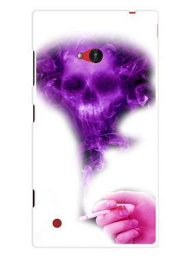 Snooky Designer Print Hard Back Case Cover For Nokia Lumia 720 - Purple