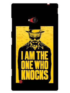 Snooky Designer Print Hard Back Case Cover For Nokia Lumia 720 - Yellow