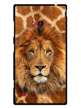 Snooky Designer Print Hard Back Case Cover For Nokia Lumia 720 - Brown