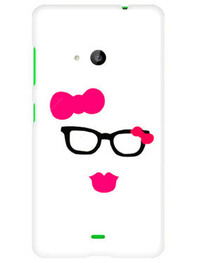 Snooky Designer Print Hard Back Case Cover For Microsoft Lumia 535 - Pink