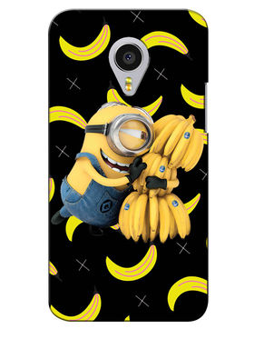 Snooky Digital Print Hard Back Case Cover For Meizu MX4 Pro - Black