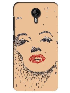 Snooky Digital Print Hard Back Case Cover For Micromax Canvas Nitro 3 E455 - Brown