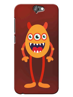 Snooky Digital Print Hard Back Case Cover For HTC One A9 - Brown