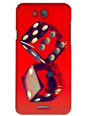 Snooky Digital Print Hard Back Case Cover For InFocus M530 - Red